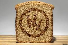 pan con un dibujo de prohibido en señaal de alergia
