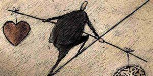 Ilustración de hombre haciendo equilibrio