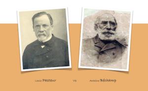 Fotografias de Bechamp y Pasteur